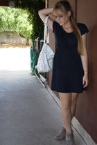 blue f21 dress - brown