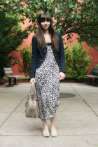 beige Blowfish shoes - off white H&M dress - navy proenza schouler for target bl