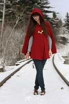 American Apparel cape - big buddha shoes - BCBGeneration jeans - Gap t-shirt