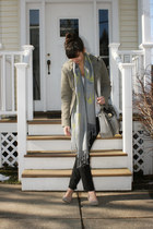camel Blowfish shoes - olive green Theory jacket - gray Snoozer Loser scarf - da