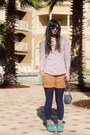 Light-purple-gap-shirt-navy-urban-outfitters-tights-navy-floral-h-m-purse-