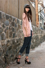 Navy-bcbgeneration-jeans-light-pink-urban-outfitters-tights
