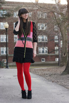 H&M dress - Target boots - Urban Outfitters tights - kensie vest