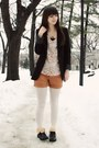 Black-forever21-boots-black-express-blazer-ivory-urban-outfitters-tights-b