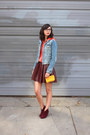 Maroon-steve-madden-boots-sky-blue-h-m-jacket