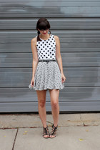 white H&M dress - heather gray handmade - Megan Nielsen patterns shorts