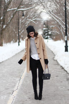 black Urban Outfitters jeans - tan Target coat
