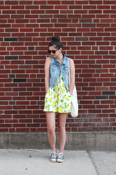 yellow Accessorize romper - sky blue Old Navy vest