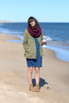 magenta The Seam Designs scarf - camel Lulus boots - navy Target dress