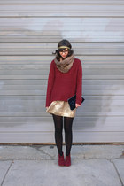 brick red Steve Madden boots - brick red Naomi and Lavender sweater