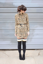 black Target boots - light brown Urban Outfitters dress