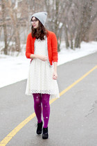 white H&M dress - black Target boots - heather gray Urban Outfitters hat