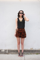 black Blowfish sandals - dark brown Minx shorts