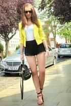 H&M jacket - H&M shorts - Zara heels