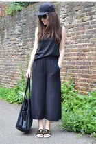 culotte H&M pants - oversized so in fashion sunglasses - cotton Zara t-shirt