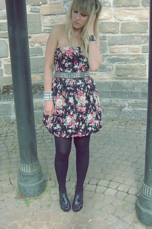 new look dress - Peacocks shoes - Primark belt