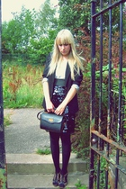 m&s sh blazer - my bfs top - no name skirt - vintage accessories - new look shoe