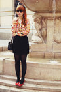 Light-orange-sheinside-blouse-gold-oasap-ring