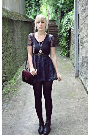 Primark black lace dress