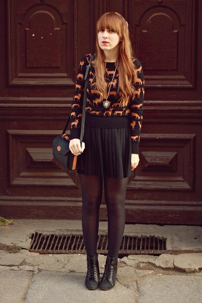 black H&M sweater - black H&M skirt