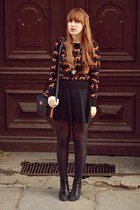 black H&M sweater - black H&M skirt