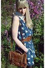 Blue-zara-dress-brown-primark-belt-brown-primark-purse