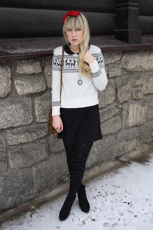 new look wedges - Primark dress - F&F sweater