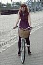 Brown-modcloth-shoes-puce-primark-dress-white-vintage-sunglasses-black-col