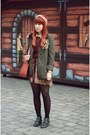 Dark-green-siren-london-jacket-crimson-h-m-sweater
