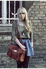 Brown-wholesale-dressnet-bag-dark-khaki-h-m-top-light-blue-westrags-skirt-