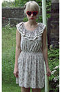 Beige-new-look-dress-white-topshop-shoes-red-topshop-sunglasses