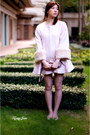 Light-pink-snidel-coat-white-snidel-shorts-light-pink-unknown-brand-top