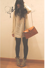 Beige-zara-dress-beige-pull-bear-jacket-brown-tights-beige-queens-wardrobe