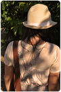 Beige-zara-t-shirt-pink-oysho-beige-vintage-hat-brown-vintage-from-madrid-