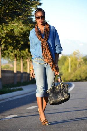 Wet Seal jeans - thrifted shirt - coach purse