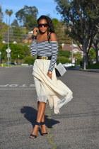 white unknown dress - neutral vintage skirt
