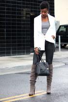 white Tobi blazer - silver Tobi top