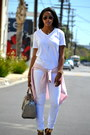 White-menswear-h-m-t-shirt-light-pink-ralph-lauren-blouse-tan-aldo-sandals