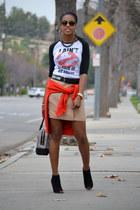 Target t-shirt - LAMB purse - Reiss skirt