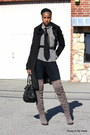 Heather-gray-bakers-boots-white-stripes-jones-new-york-blouse