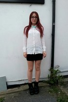 white embroidered new look shirt - neutral Ebay tights