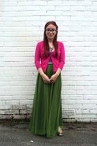 maxi OASAP skirt - jelly glitter Ebay flats - Primark cardigan