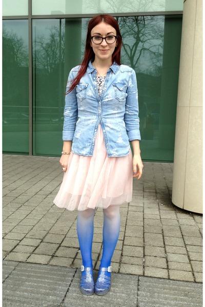 Light Pink Sequined H Amp M Kids Dresses Sky Blue Floral