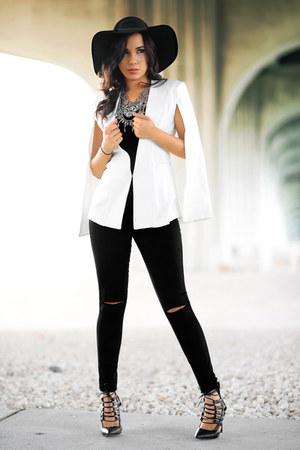 Hot Miami Styles jeans - Hot Miami Styles cape - Hot Miami Styles heels