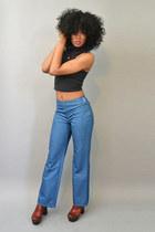 vintage bag - vintage jeans