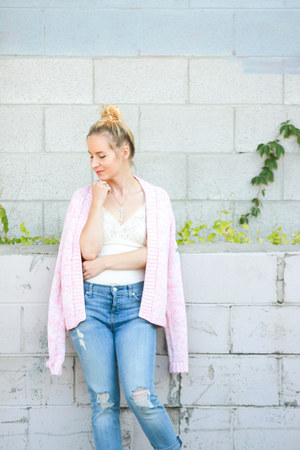 bubble gum bench cardigan - sky blue 7 for all mankind jeans