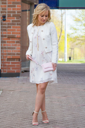 Darling NYC jacket - Gentle Fawn dress - clutch Matt & Nat bag - Lulus sandals