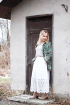 olive green military jacket free people jacket - beige ankle boots Aldo boots