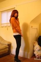 vintage top - Wet Seal t-shirt - Forever21 shorts - Express tights - Colin Stuar