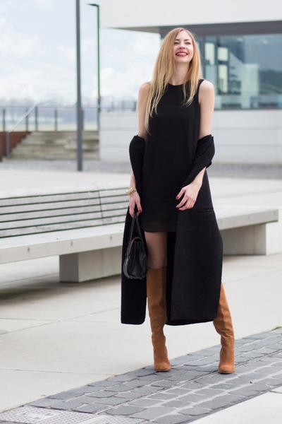 Black Black Dress Sparkle & Fade Dresses, Light Brown Knees, High ...